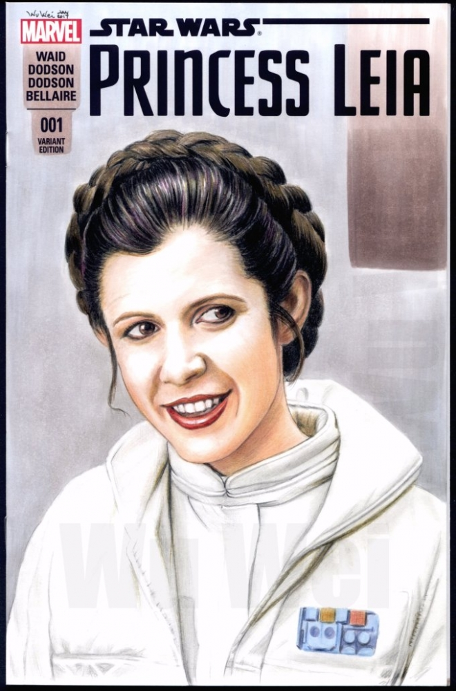 Carrie Fisher by wu-wei